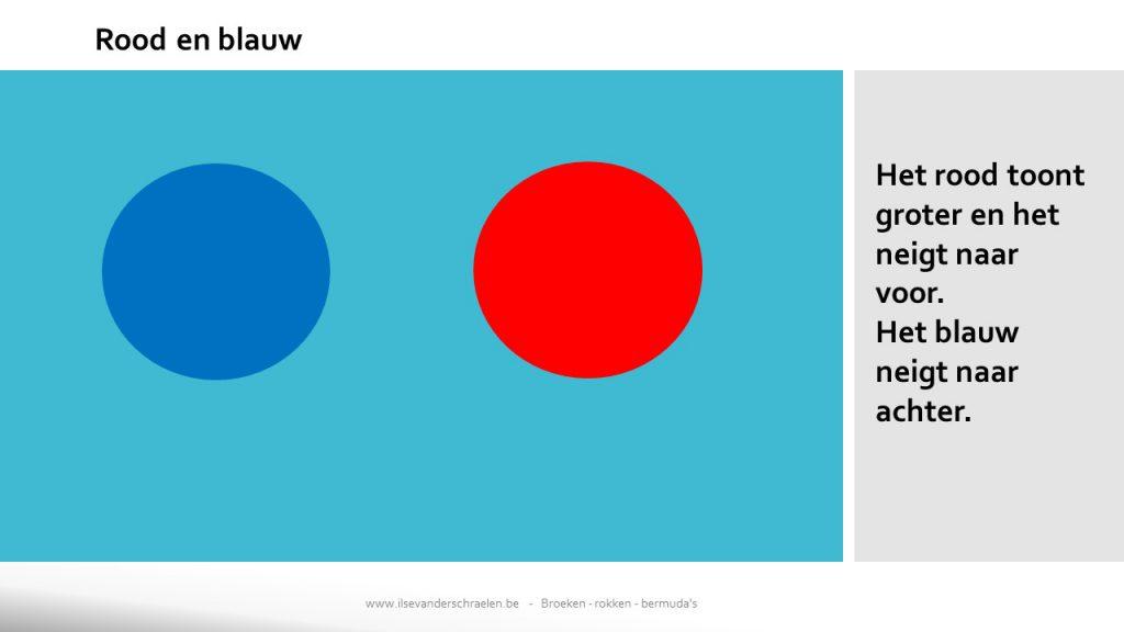 rood en blauw kleurencombinatie