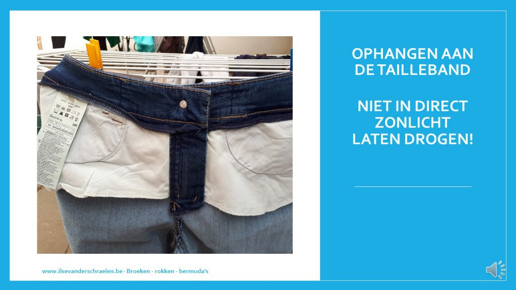 droogprocedure jeansbroek